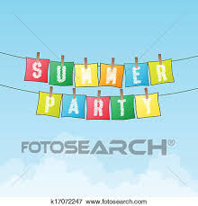summer party clipart. Perfect Summer Clip Art  Summer Party Fotosearch Search Clipart Illustration Posters  Drawings For Party Clipart M