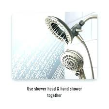 gorgeous combination shower head combination shower head and hand shower two in one shower showers give you more rain shower head with hand spray kohler