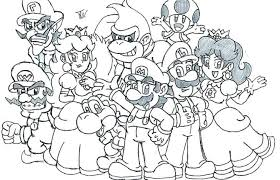 Mario Bros Coloring Pages Super 2 Bowser Brothers Pdf Pa Free Online