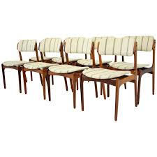 danish mid century modern set of eight rosewood chairs by erik buck modern dining room