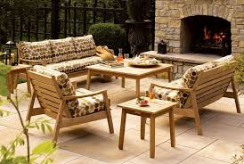 choosing wood for furniture. Furniture:Classic Garden Furniture With Square Wood Coffee Table And Dotted Cozy Sofa Als Structure Choosing For