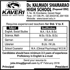 School Counselor Job In Pune Office Administration