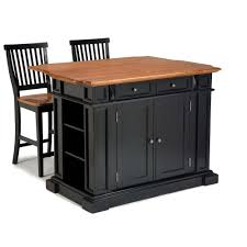 Home Styles Americana Black Kitchen Island With Seating 5003 948