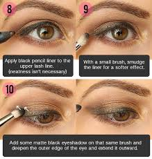 smokey brown eyeshadow tutorial for hazel eyes 004