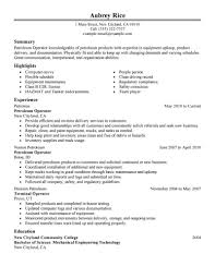 Resume Examples For Oil Field Job Production Operator Resume Sample For Study Best Extrusion Example 47