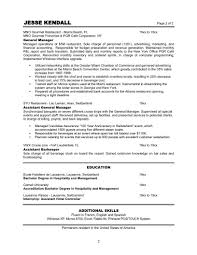 Job Resume Free Restaurant Manager Resume Examples Restaurant Job