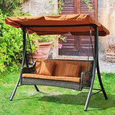 Garden Swing Seat Seater Hammock Outdoor Swinging Bench Cushion