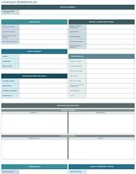 9 Free Strategic Business Plan Excel Templates Strategic