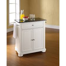 Granite Top Kitchen Alexandria Black Granite Top Kitchen Cart White Kf30024awh
