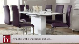 furniture choice. osaka white high gloss extending dining table by furniture choice - youtube i