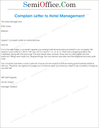 Collection Of Solutions Complaint Letter Sample Hotel Service