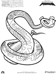 Змея и ее дети раскраска