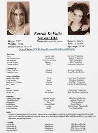 Modeling Resume Template Templates Child Model Samples Unnamed Fil