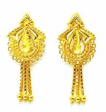 Gold New Design Tops New Gold Earrings Tops Drops Handmade Design 22k 22ct 916
