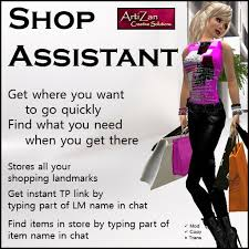 second life marketplace   artizan shopping assistant   store your    artizan shopping assistant   store your favourite shop landmarks  what you    re looking