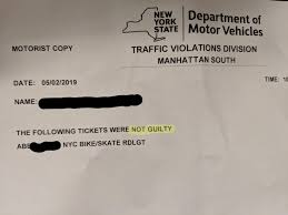 Bicycle Red Light Ticket Nyc Not Guilty Red Light Ticket Nycbike