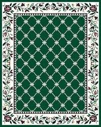 D Hunter Green Area Rugs Solid