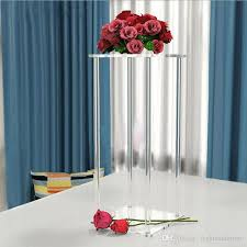 60cm and 80cm tall square clear acrylic crystal chandelier wedding table top flower stand holder clear pillar centerpieces wedding centerpieces flower stand