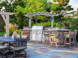 Patio Kitchen Cheap Outdoor Kitchen Ideas Hgtv
