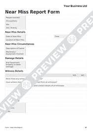 Free Near Miss Report Form Template Haspod
