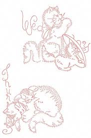 Vintage Embroidery Designs Machine Vintage Embroidery Cat Family Dow Wednesday And Thursday