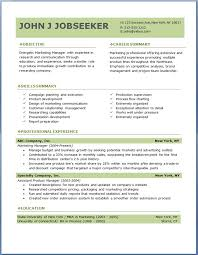Free Job Resume Template F Cool Resume Format For Free Download