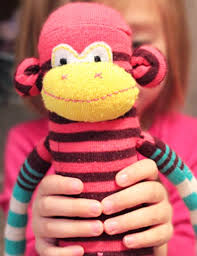 how to make a sock monkey face