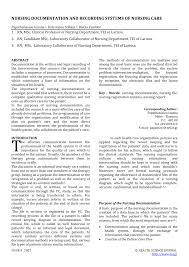 Nursing Documentation Charting By Exception Pdf Nursing Documentation And Recording Systems Of Nursing Care