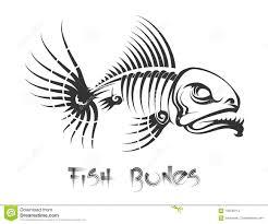 татуировка косточек рыб иллюстрация вектора иллюстрации