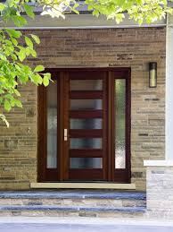 Solid Mahogany Front Entry Doors And Garden Tub Windows With Glass Front Doors