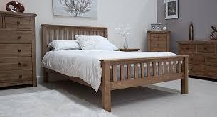 Tilson Solid Rustic Oak Bedroom Furniture 4u00276 Double Bed