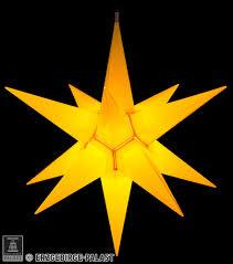 Haßlauer Weihnachtsstern Für Innen Und Außen Gelb Inkl Beleuchtung 60 Cm