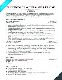 Samples Of Resumes For Teachers Teacher Resume Examples Free To Try