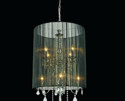 black metal chandelier shades clear glass