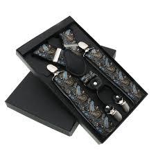 <b>Men'S Suspenders 4 Clip</b> Cashew Pattern Suspenders ...