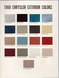 The 1970 Hamtramck Registry 1968 Chrysler Color Trim Book