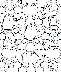Unicorn Pusheen Coloring Pages Only Coloring Pages