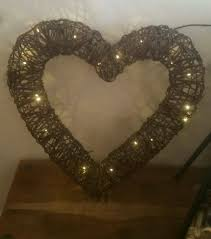 Large Wicker Heart With Lights Very Large Wicker Heart Lights In Kelvedon Essex Gumtree