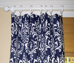 Navy Blue Patterned Curtains Unique Stripe Navy Blue Curtain Panels THE LUCKY DESIGN
