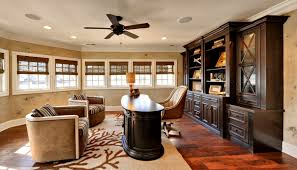 office ceiling fan. baseboards and ceiling fan traditional home office c