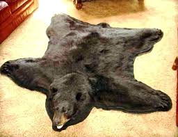 photo 4 of beautiful faux bear skin rugs 5 rug fake pattern fur with head white