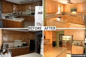 Contractor Grade Kitchen Cabinets Refacing Bathroom Cabinets Before After Kitchen Cabinet Refacing