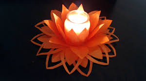 Simple Candle Decoration Part I How To Make Paper Flower Decoration Youtube