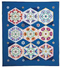 garden quilt. Hexie Garden Quilt: 9 Whimsical Hexagon Blocks To Applique \u0026 Piece By Becky Goldsmith Of O\u0027 Quilt M