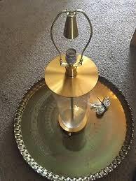 rare visual comfort co ralph lauren home glass gold brass cylinder table lamp