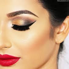 red lips eye makeup photo 1