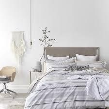 bianca blue grey stripe double duvet set