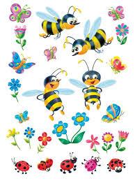 <b>Наклейка</b> для декора Пчелки на лугу <b>DECORETTO</b> 8486922 в ...