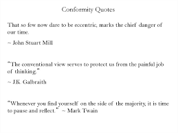 Conformity Quotes Adorable Conformity Quotes Online Presentation