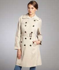 london fog women s stone cotton blend double ted trench